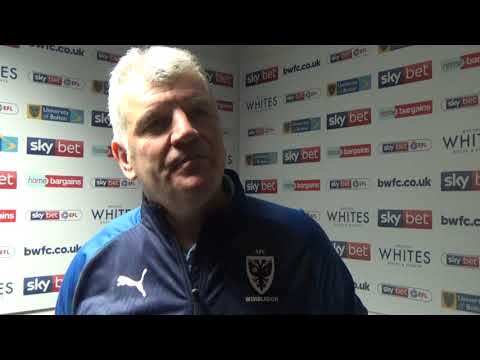 Glyn's post-match reaction at Bolton