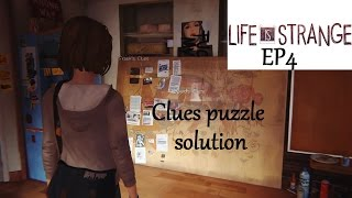 Life is Strange Ep4 - Clues puzzle solution