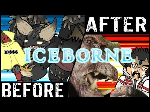 MHWorld Shots: Before And After Iceborne (Monster Hunter World Iceborne Experience)