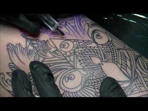 Mandala Owl - Tattoo time lapse
