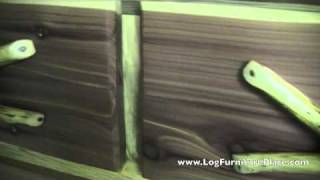 Red Cedar Log Bachelor Chest By Diamond Point | Cabin Furniture From Jhe's Log Furniture Place