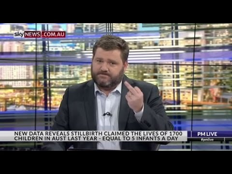 Paul Murray flips the bird onair at ABC journalist who reply emailed Stillbirth Foundation