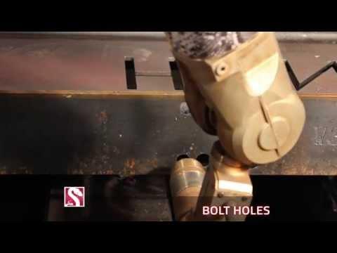 PythonX - Structural Steel CNC Machine Overview Video