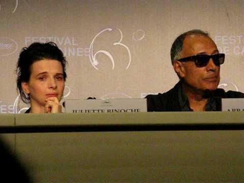 Juliette Binoche cries in Cannes 2010