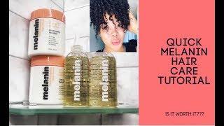 Quick Melanin Hair Care (Twistout )Tutorial