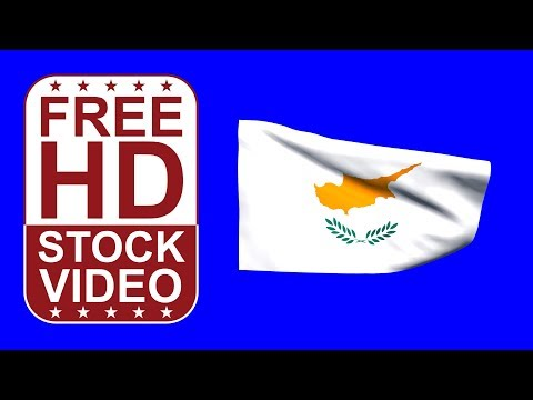FREE HD video backgrounds – Cyprus flag waving on blue screen 3D animation