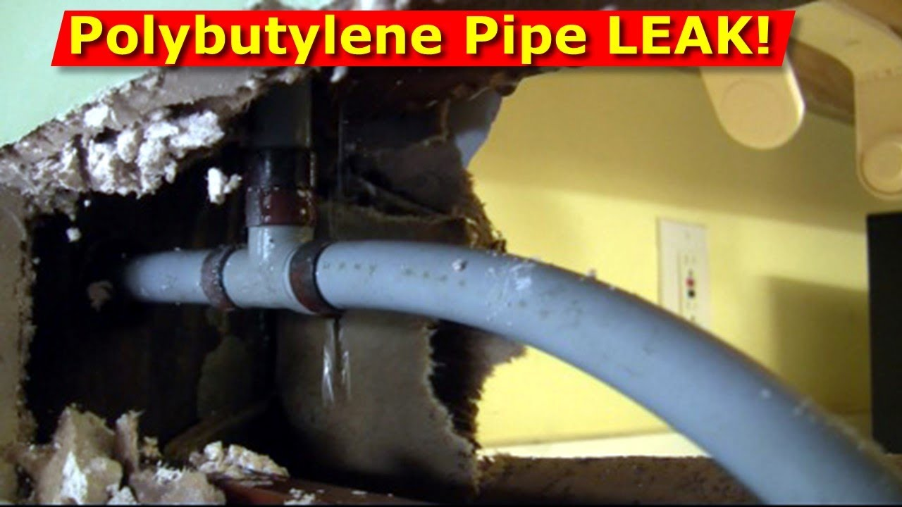 How polybutylene piping pb caused plumbing leaks inside for Pb water pipe