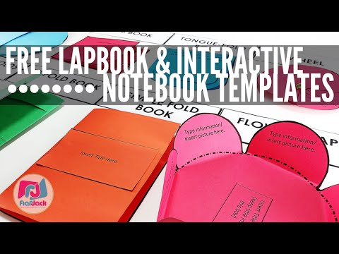 FREE Editable Lapbook Interactive Notebook Templates When You ...