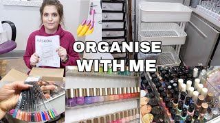 💅ORGANISE WITH ME   NAIL TROLLEY   ISABELMAYNAILS