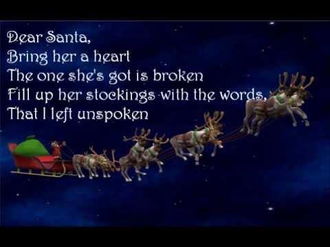 Dear Santa-Tim McGraw (Lyrics Video)
