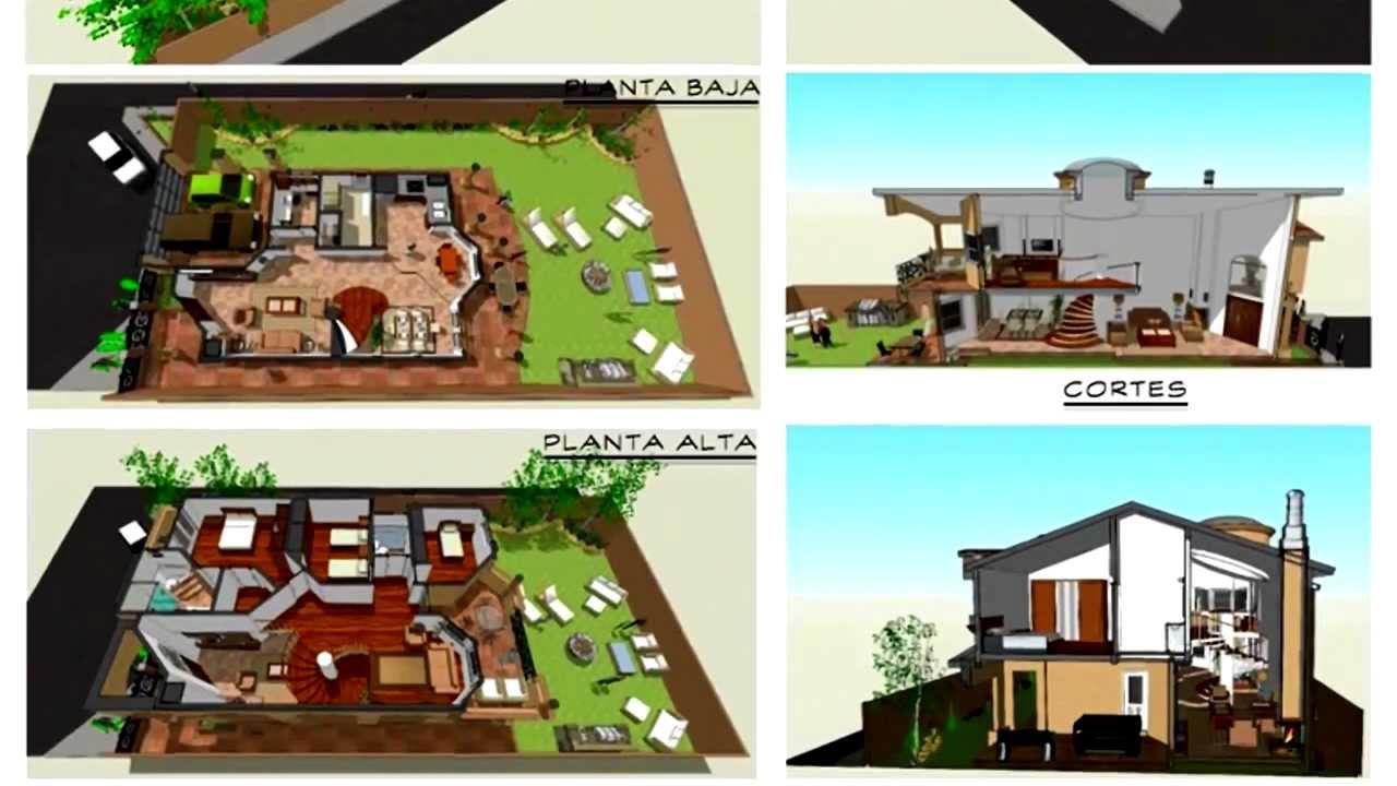 Planos de casas modelo santa celia 49 arquimex planos for Planos de casas youtube