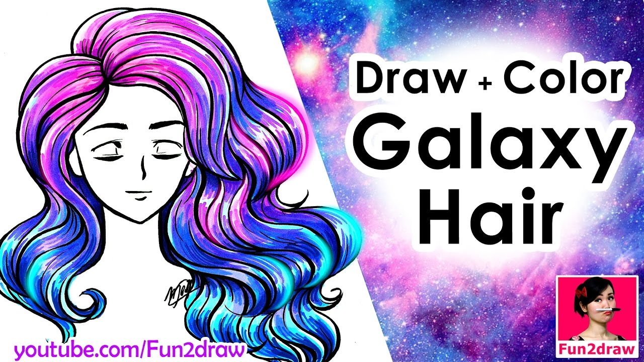 draw hair and color