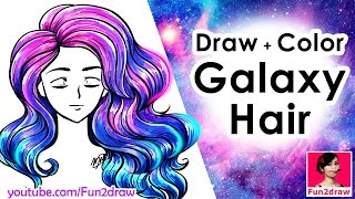 How to draw hair | Draw and Color EASY!