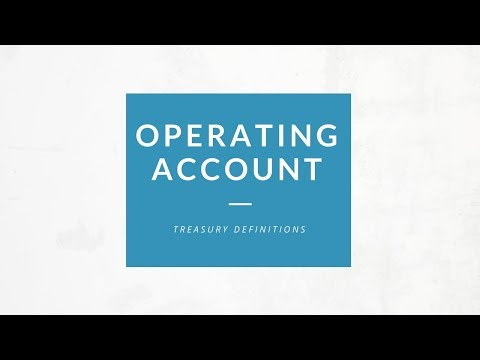 Operating Account