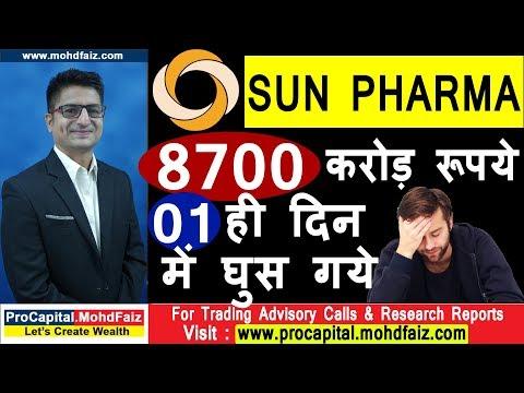 SUN PHARMA SHARE NEWS  8700 करोड़ रूपये 01 ही दिन में घुस गये