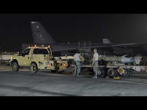 Maintainers At Al Udeid Air Base Keep B 52s Armed & Flying