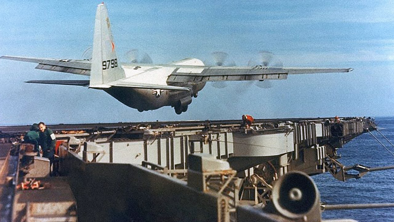 The Largest Plane to Ever Land on an Aircraft Carrier - C-130 Carrier Exercises