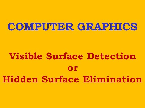 Visible Surface Detection: Introduction
