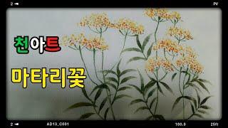 천아트,마타리꽃그리기꽃그림천아트,야생화그리기,꽃그림, …