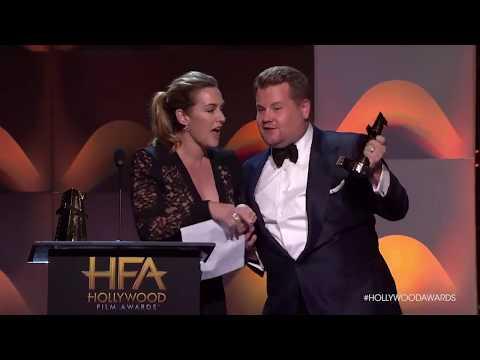 Hollywood Film Awards: Allison Janney Kisses Kate Winslet Onstage