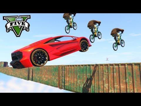 GTA V Online: BMX vs SUPER CARROS - A JOGADA de 5 KILLS!!!