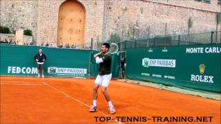 Novak Djokovic Footwork In Slow Motion