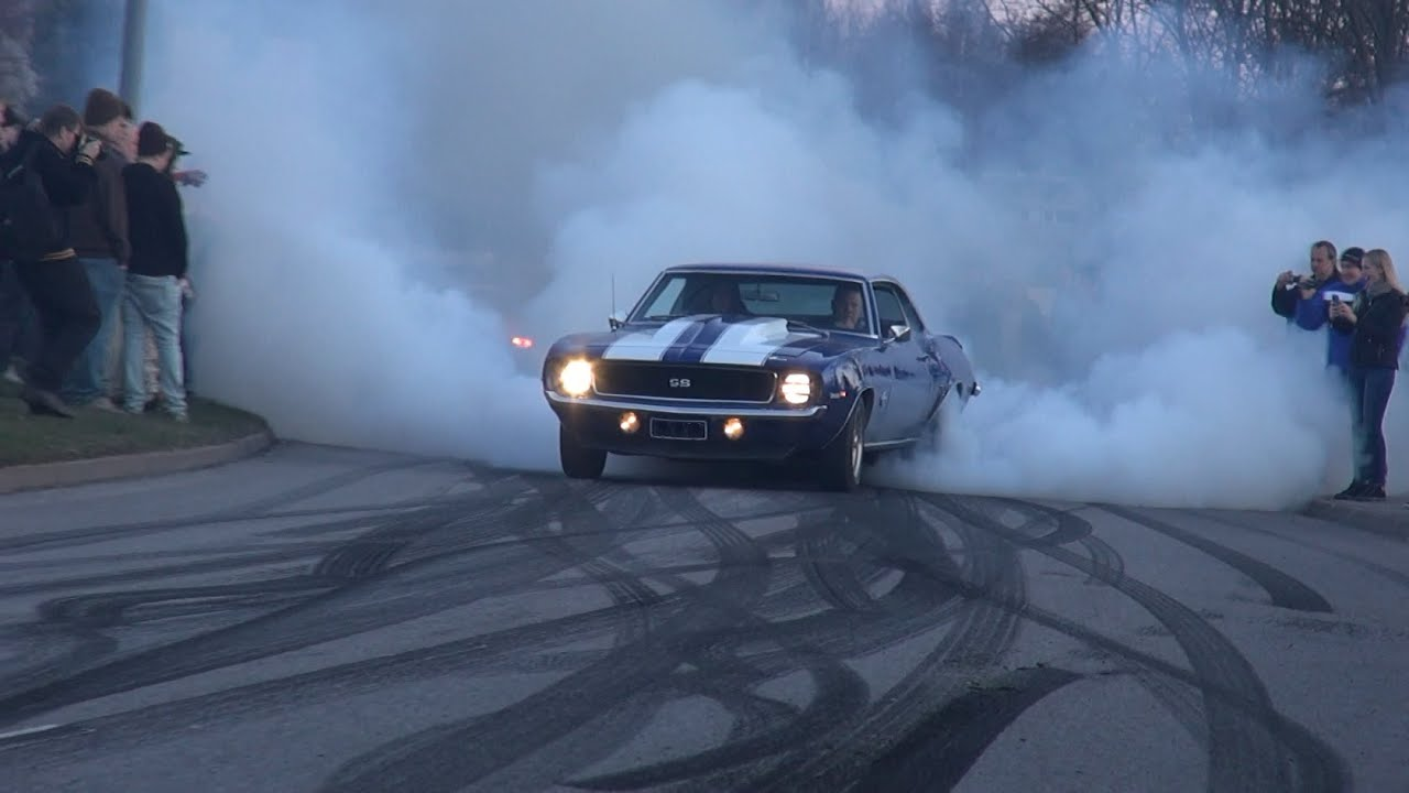 Insane Burnout And Powerslide 1969 Chevrolet Camaro Ss 6