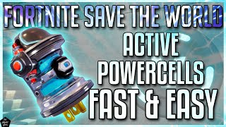 FORTNITE STW: HOW TO FIND ACTIVE POWERCELLS FAST & EASY! [STW BEGINNER TIPS]