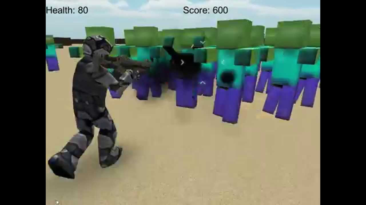 Online Minecraft Shooting Game Zombie Raider YouTube - Minecraft shooter spiele