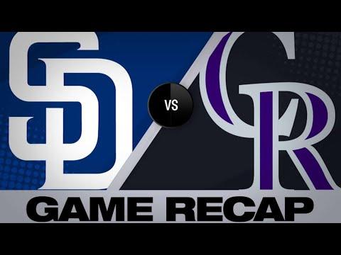 Desmond, Blackmon Lead Rox Over Padres   Padres-Rockies Game Highlights 6/15/19