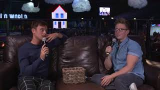 Q&A with Tom Daley & Tyler Oakley at Hello World (Oct 28, 2017)