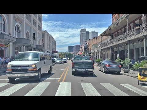 Driving Downtown - Decatur Street - New Orleans USA