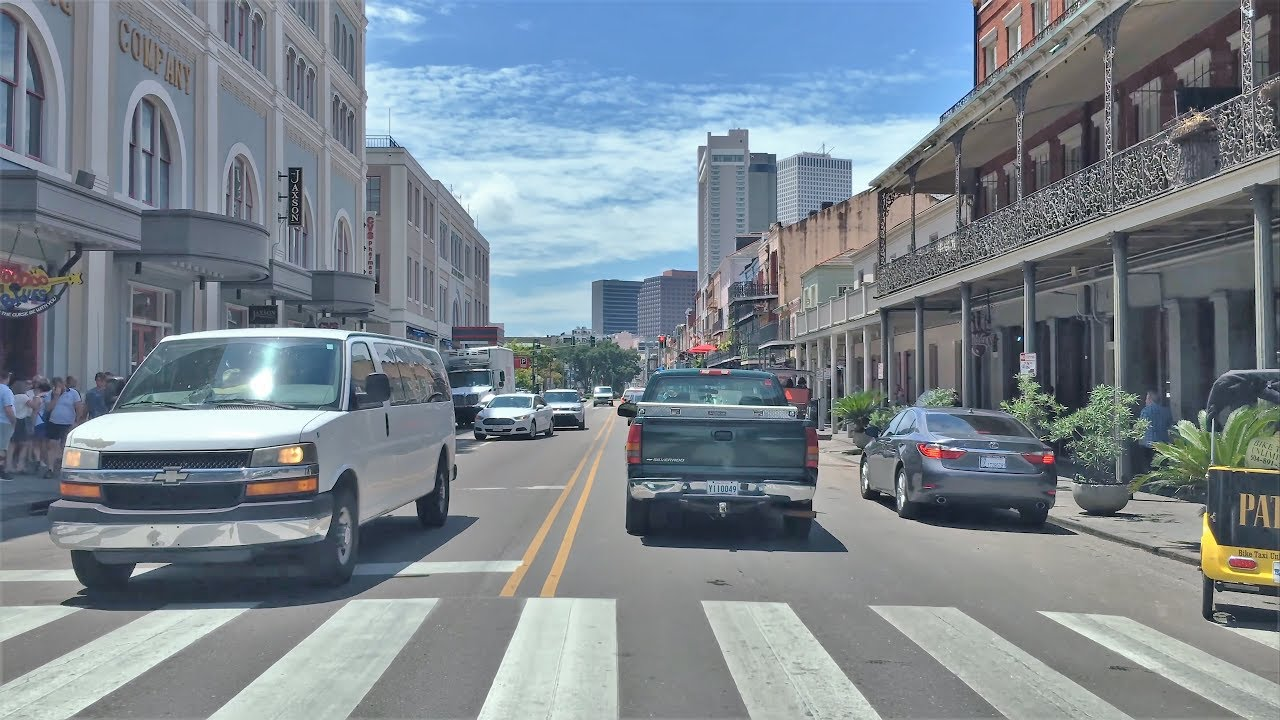 Driving Downtown 4k New Orleans Levee Street Usa Youtube
