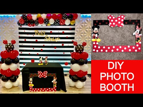 Mickey Mouse Photo Booth Frame || Minnie Mouse Photo Booth Frame || Baby Shower Decor Ideas