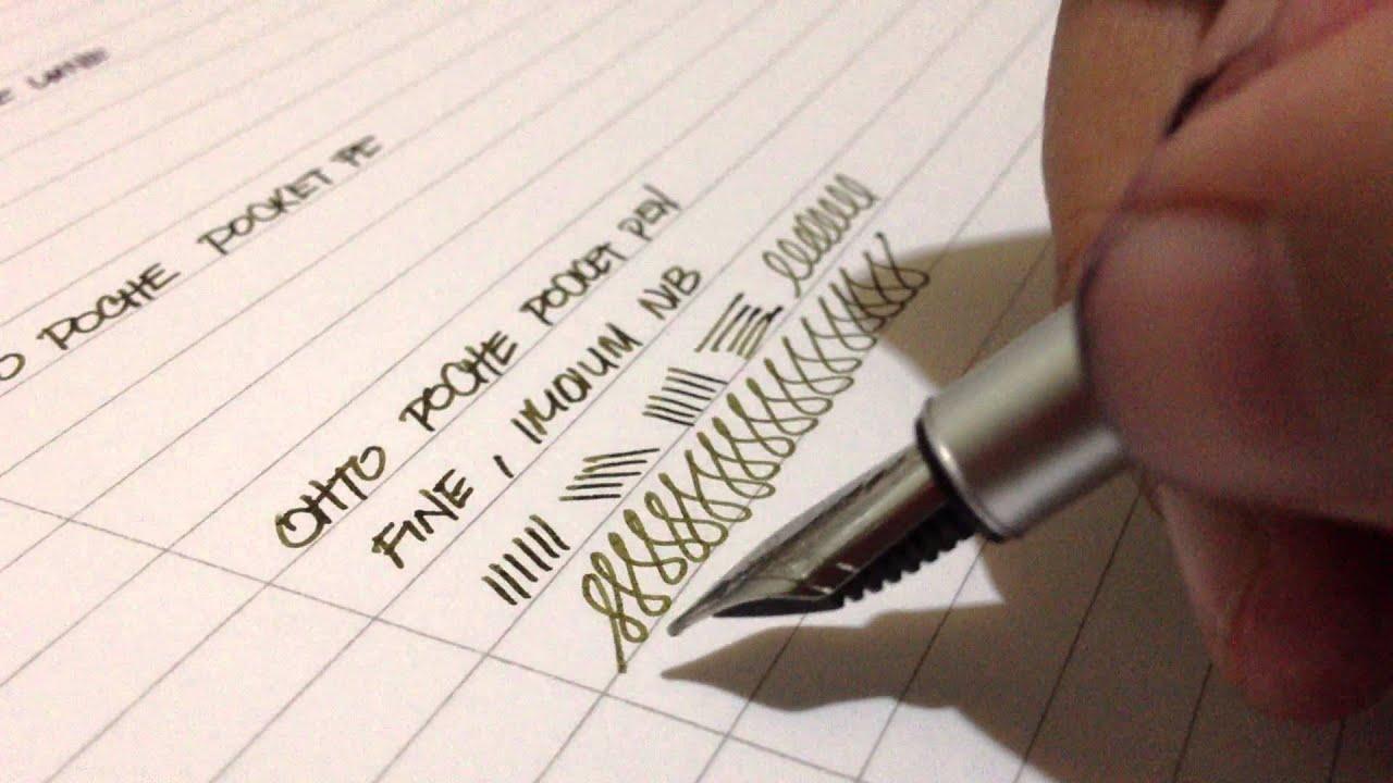 Ohto poche pocket fountain pen writing sample youtube Writing calligraphy with a fountain pen