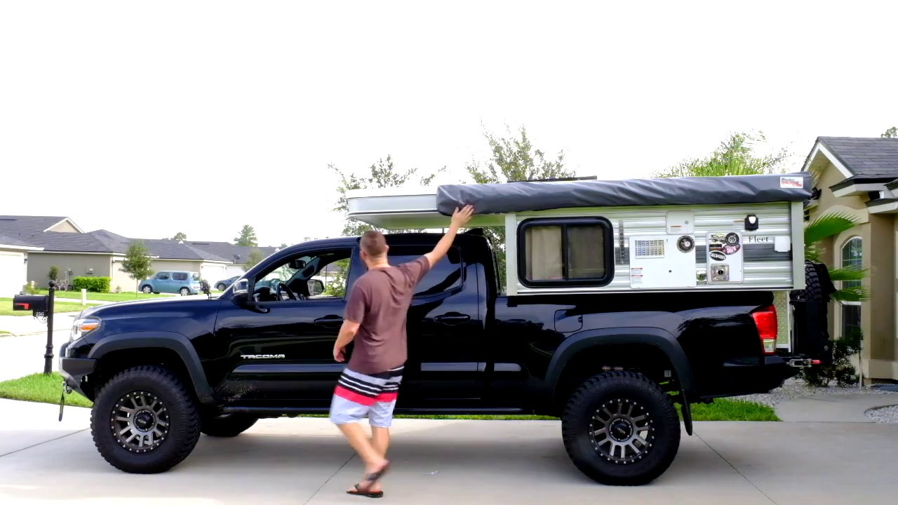 Toyota Tacoma Overland Build >> Four Wheel Camper Fleet Walkaround Tacoma - YouTube