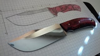 Knife Making from 1095 steel - Nostalgia of Red : Part 1
