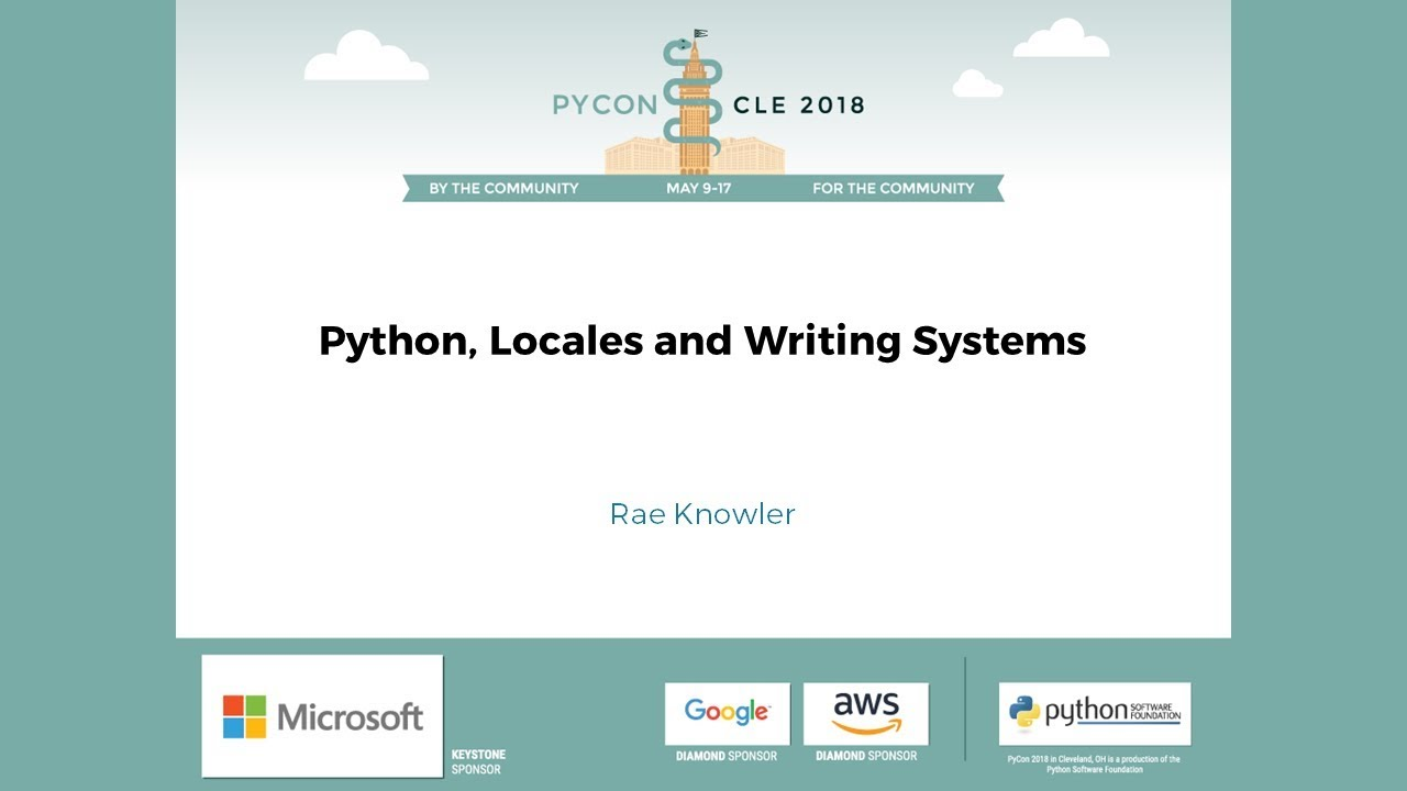 Image from Python, Locales and Writing Systems