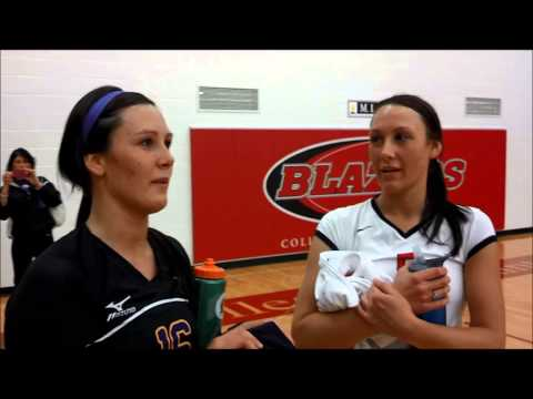 Blazer senior Chelsea Rachel and her sister Shelby talk about playing eachother.