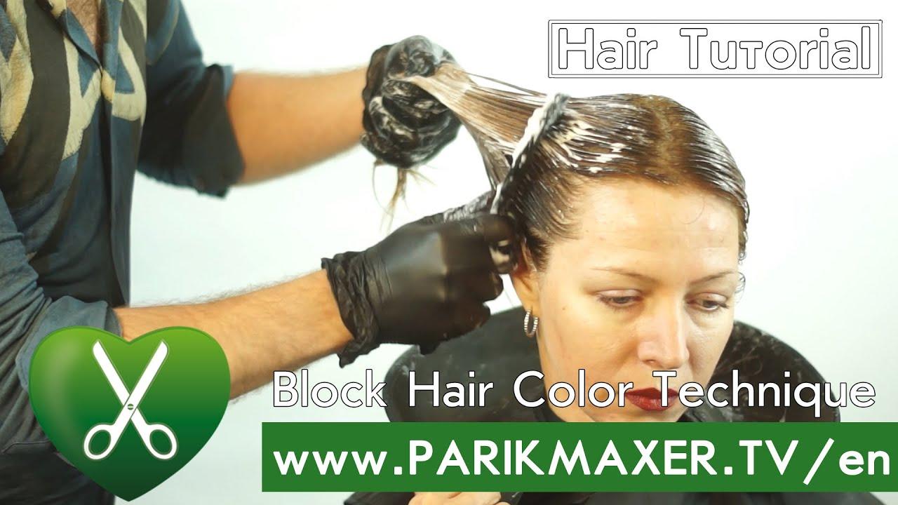 Block Hair Color Technique Parikmaxer Tv English Version Youtube