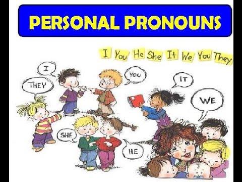Pronombres personales en Ingles para niños - YouTube