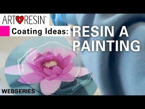 Top 4 ArtResin Ideas! No. 2 - Coat a Painting
