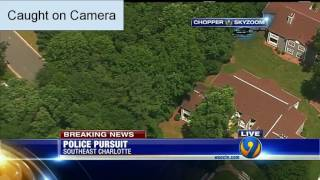 Crazy Police Chase in Charlotte NC