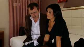 Corrie Steve and Michelle Make up in a hotel
