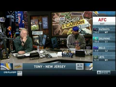 Boomer and Carton - Classic Craig vs Tony from NJ - Giants Caller