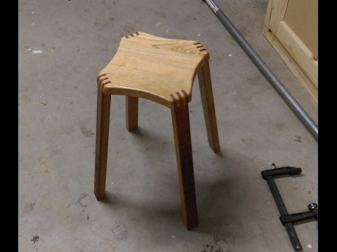fabrication d 39 un tabouret en bois partie 1 build a wooden stool part1 youtube. Black Bedroom Furniture Sets. Home Design Ideas