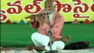 "Flute Music on ""Sitaramula Kalyanam..."" Song - Patriji, Dhyana Mahachakram-2010"