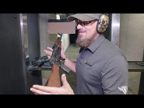 Machine Guns Vegas: Having a blast with the AK47, Glock 17, M249 SAW, M4 and MP5   Newshub