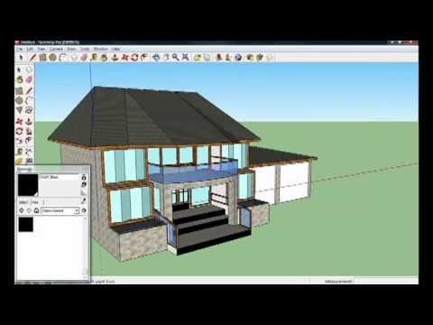 google sketchup 8 house tutorial part 4 4 youtube ForMobilia Sketchup 8