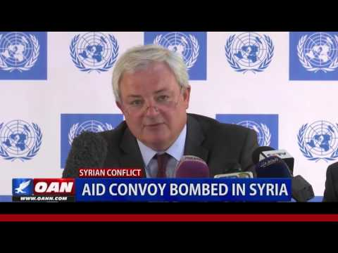 Aid Convoy Bombed in Syria